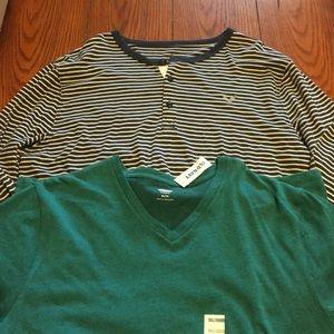 2 XL Shirts. Old Navy Tee NWT, AE long-sleeve